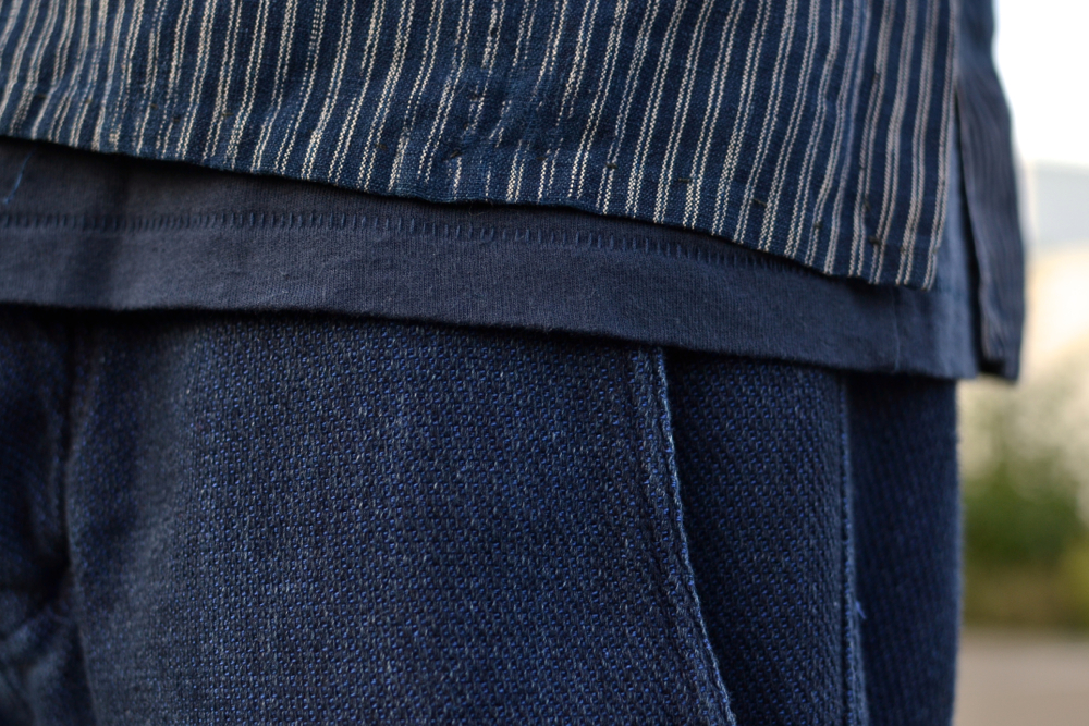 Sashiko by Bleu de Paname & Vintage noragi indigo Japanese stripes