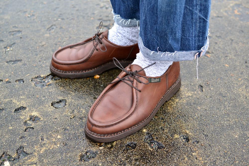 Idée de tenue avec une deck jacket n1 dasn un style workwear vintage street heritage et des paraboot michael