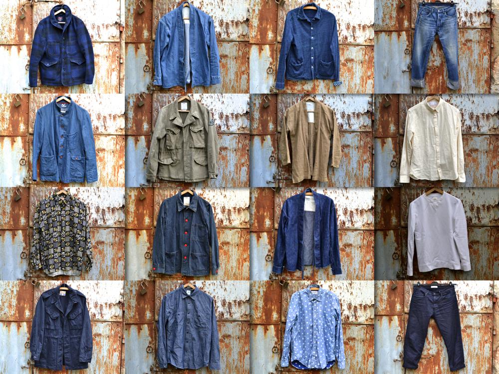 idée de noragi pour homme en indigo type kimoo workwear