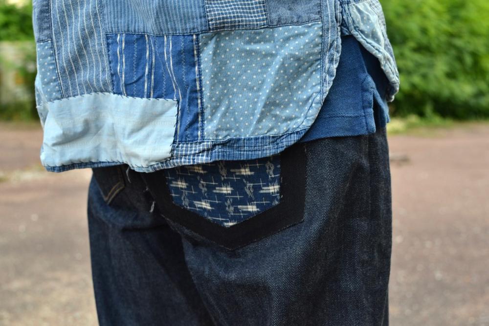 comment porter un jeans coupe droite et associer une chemise en patchwork