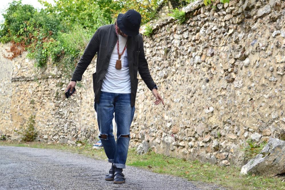 comment porter les claquettes chaussettes à la cool façon workwear japonais