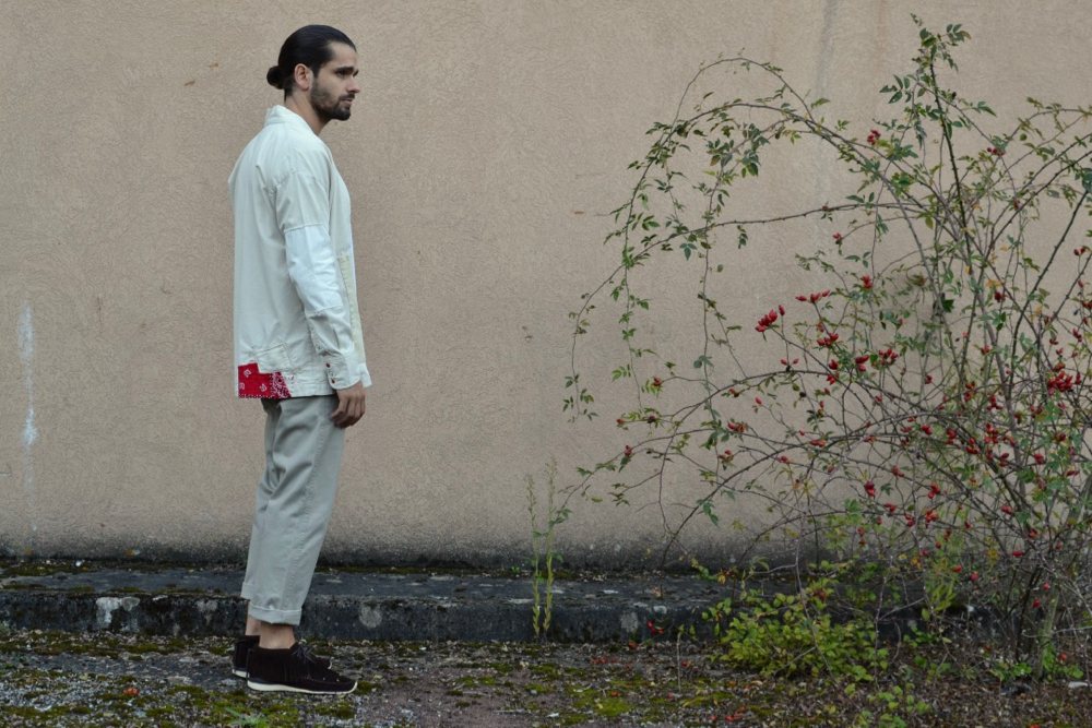 Soulive Bluxe and his Haori western shirt off-white