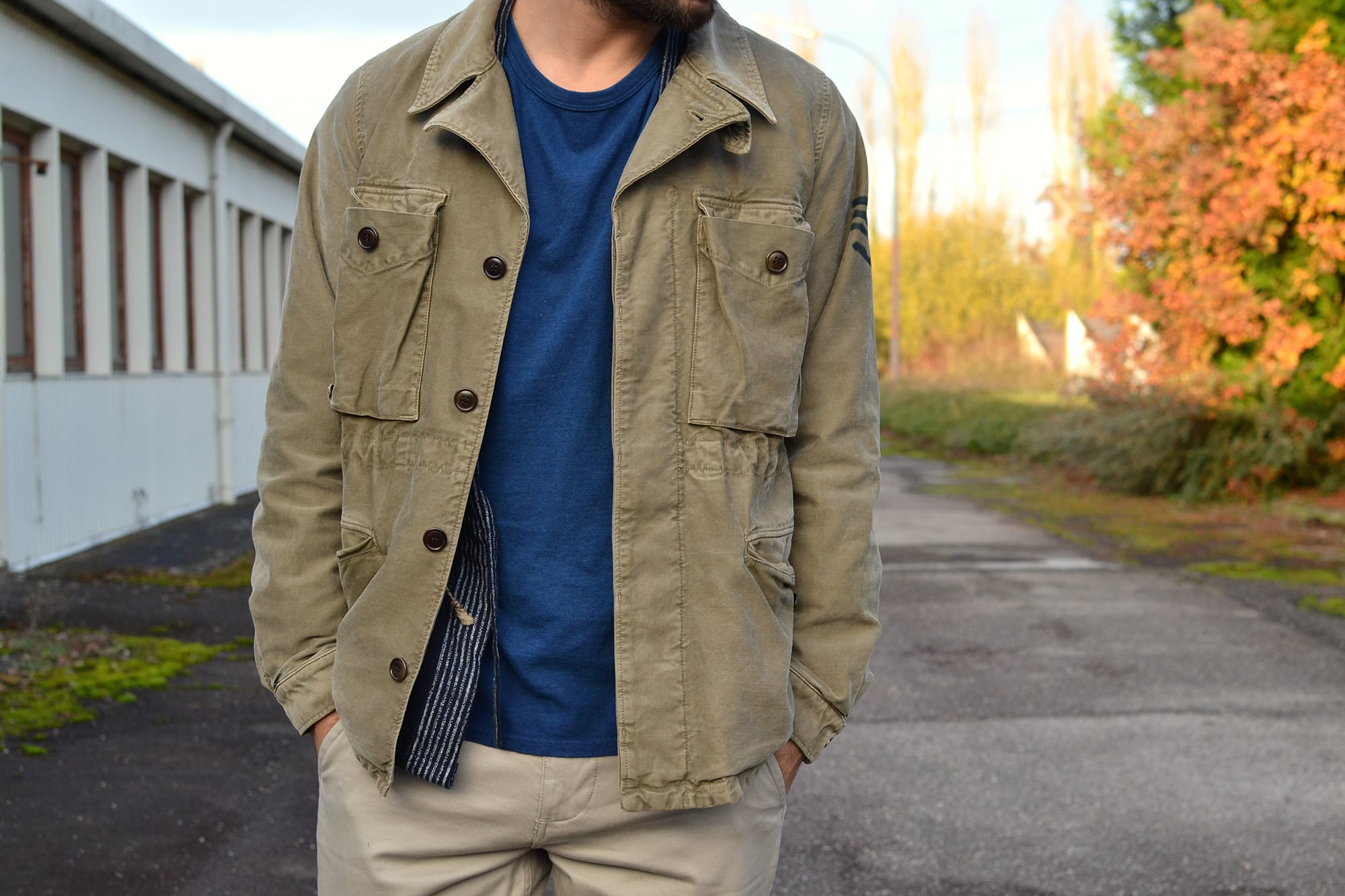 Visvim Achse jacket damaged olive