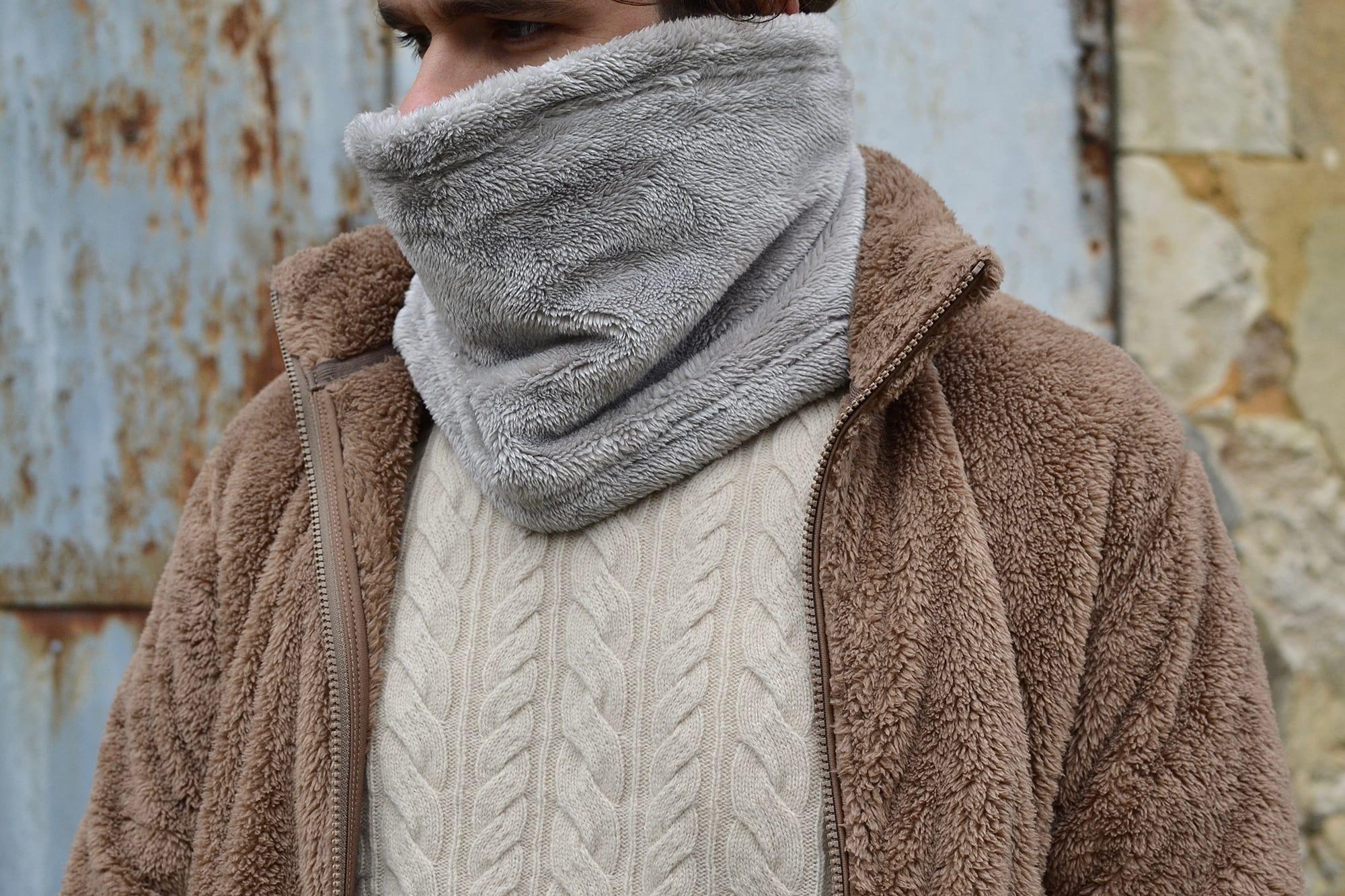 tour de cou pour homme Uniqlo en fleexe polaire