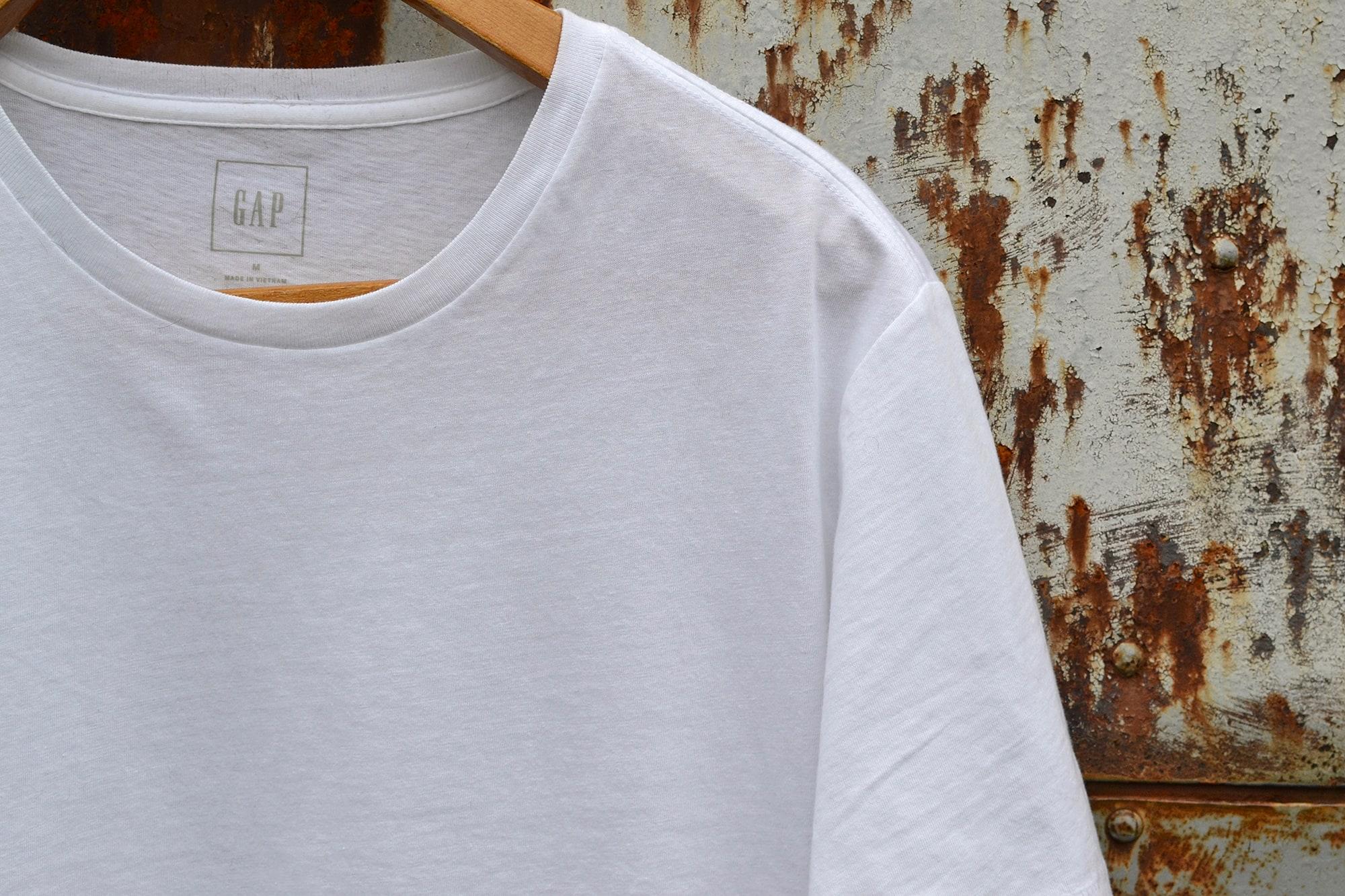 GAP un bon choix de tee shirt blanc pour un homme
