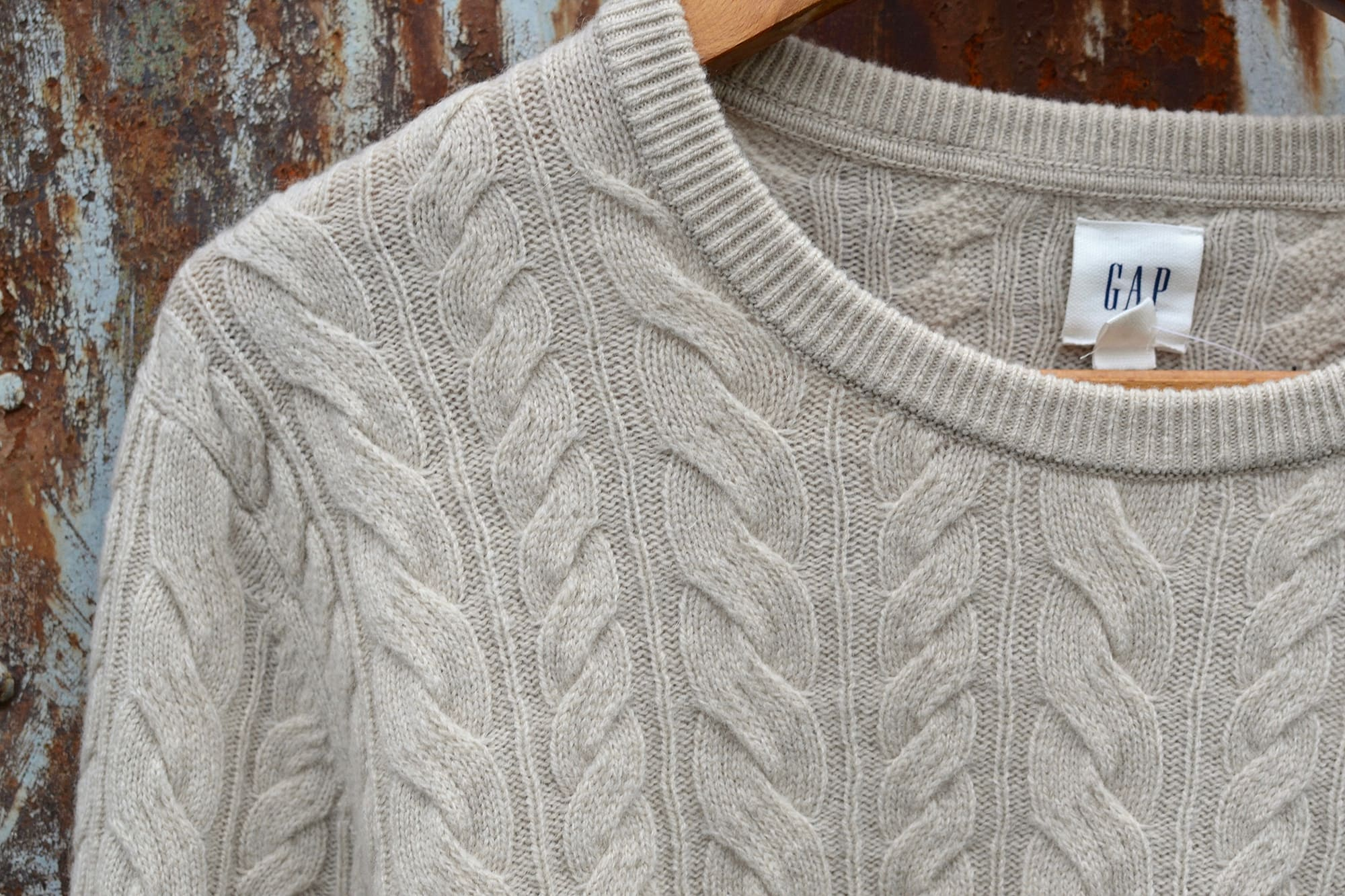 GAP knit sweat inspired by irish aran wool knit pull