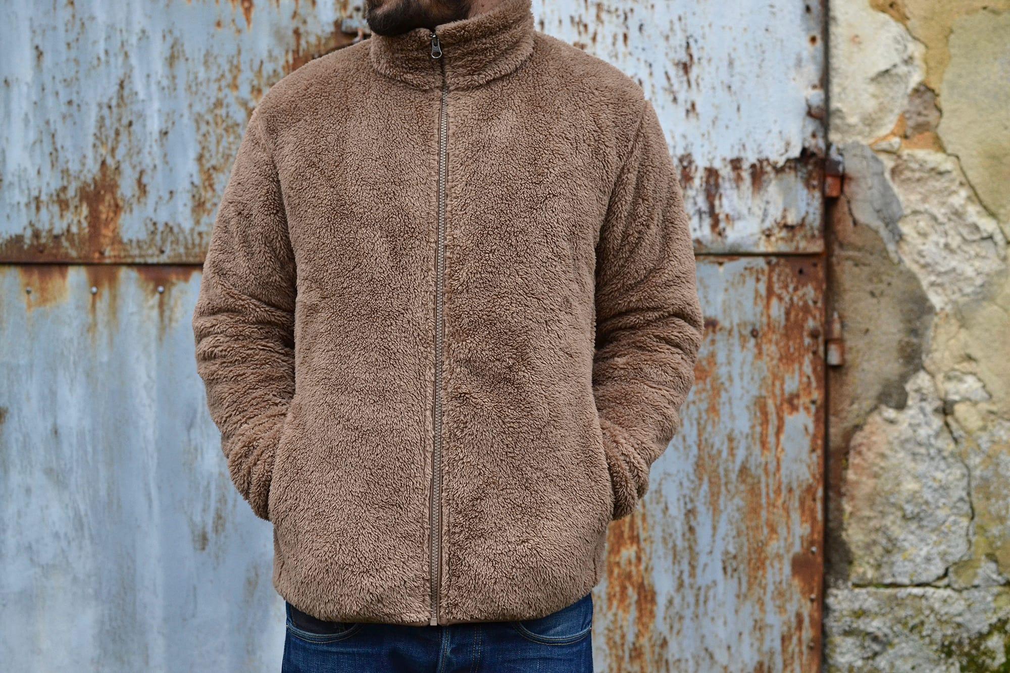 polaire façon peluche mouton fleexe uniqlo
