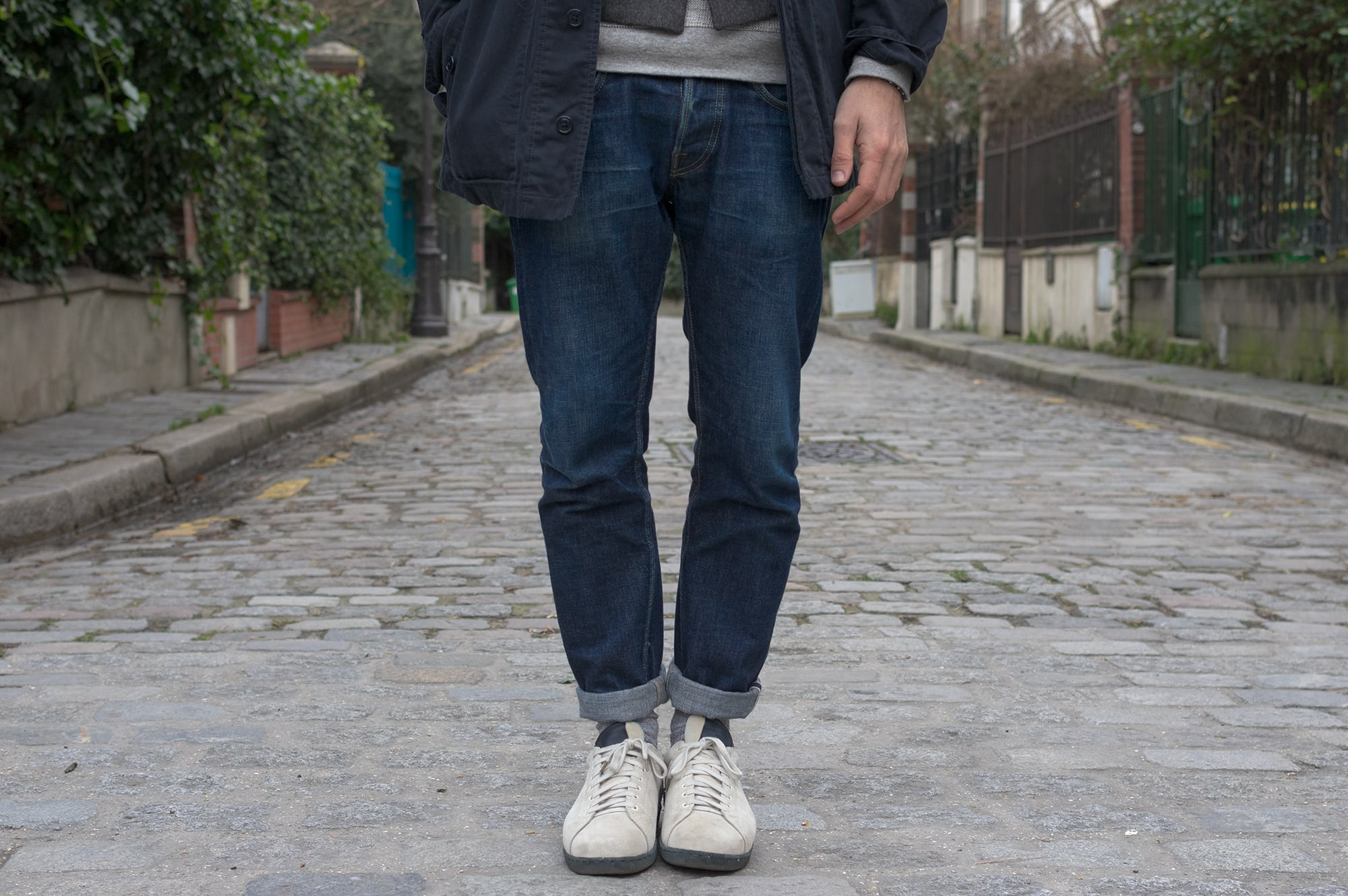 Phi denim un jeans tapered made in japan pour homme