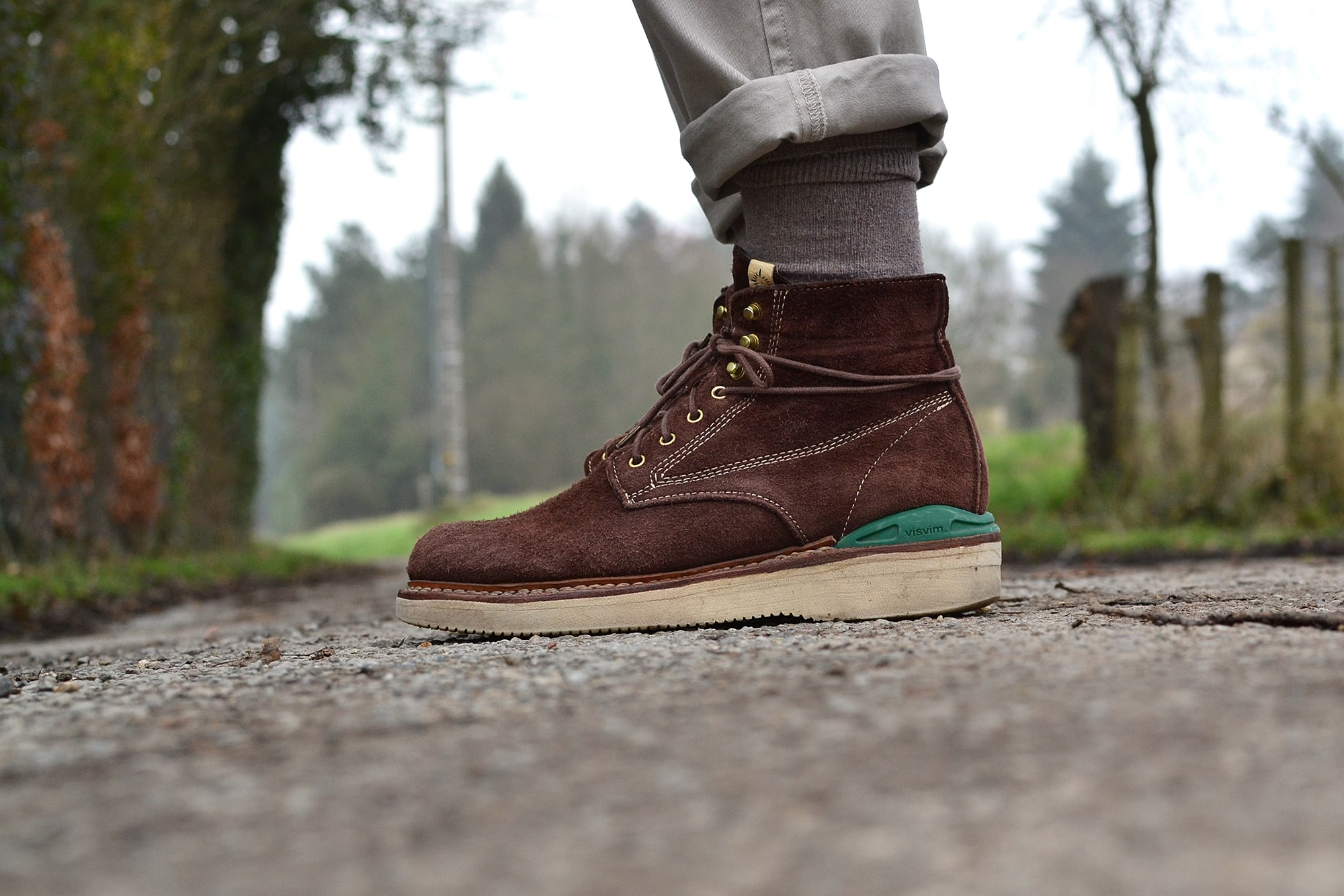 How to wear work boots Visvim Virgil brown chocolate elk boots
