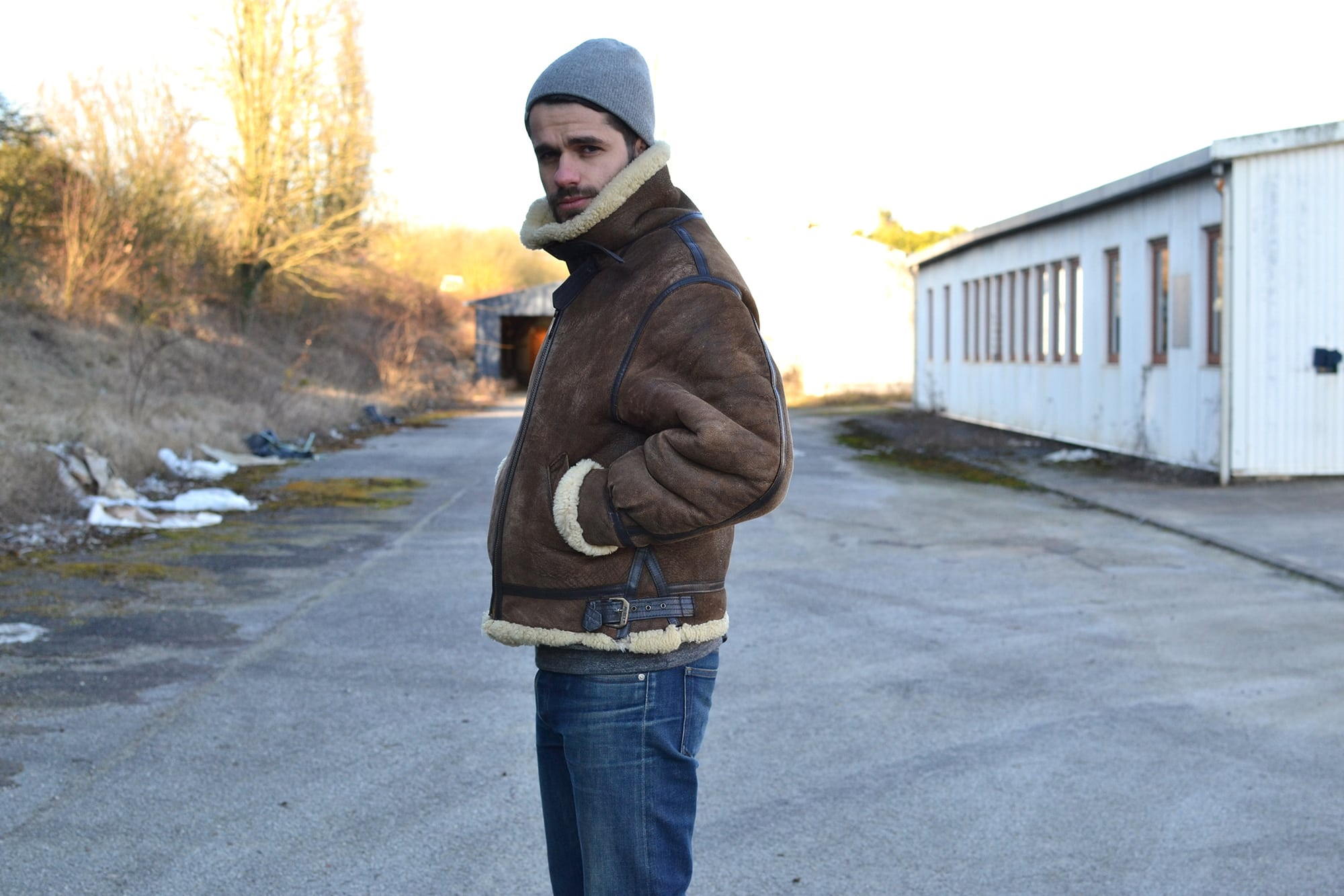 Avirex bombardier B3 shearling flight jacket