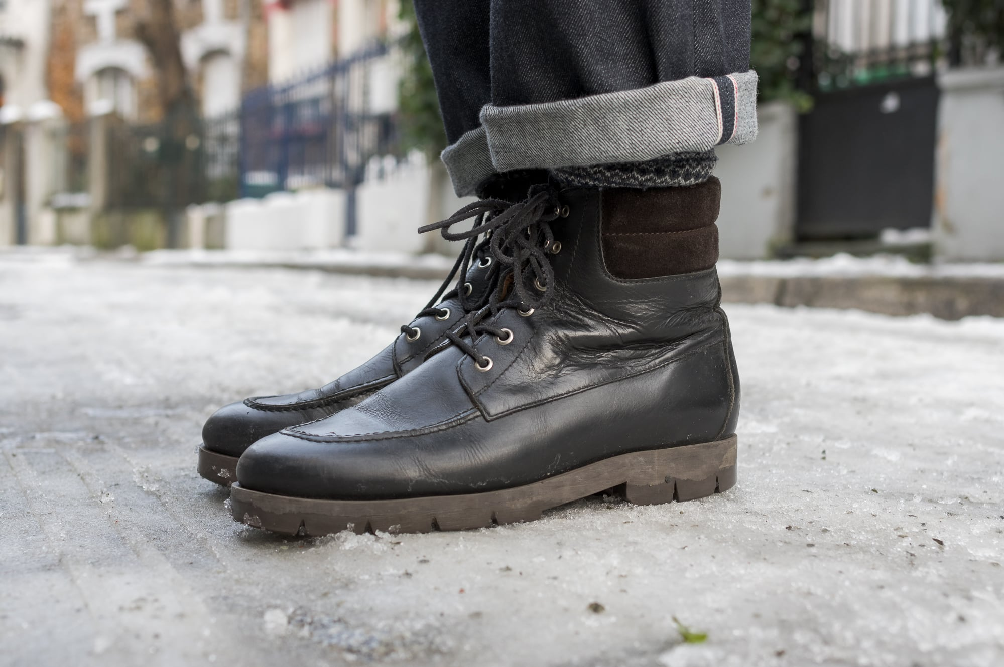 Phi. denim straight raw jeans - made in Japan - Service boots APC